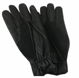 Zwarte, leren handschoenen maat L.