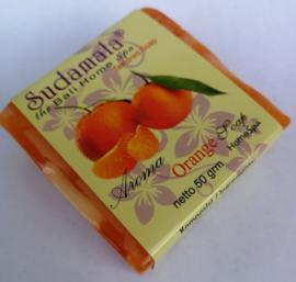 Sudamala Orange Home spa zeepje 50 gram. Max 1 product per bestelling.