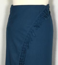 Sarong diep blauw XL.