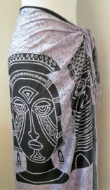 Sarong hindoestaanse Goden. Kleur kruin chakra, element pure geest, mantra (stilte). 115x150 cm 100% Rayon (kunstzijde) wasbaar op 30 graden. Met sarongknoop.
