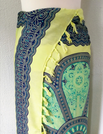Sarong Mandala XL geel/groen/multi.