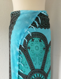 Sarong Mandala XL turqois/ groen/zwart.