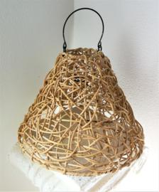 Schitterende naturel rotan hanglamp.
