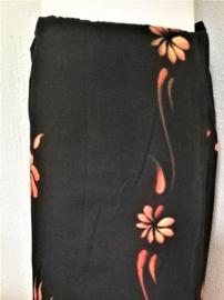 Schitterende Balinese ceremonie sarong. 1.80 x 1.10 cm Wasbaar op 30 graden. Met sarongknoop.