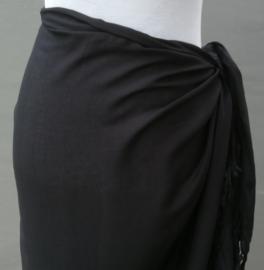Sarong zwart.