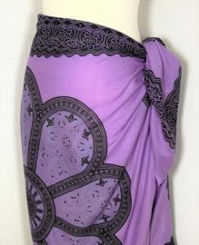 Sarong Mandala lila/zwart/antraciet.