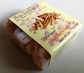 Sandelwood Bali Home spa zeepje 50 gram. Max 1 product per bestelling.