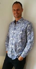 Blouse/overhemd. Balinese L  wijdte 100 cm Mouwlengte 62 cm. Zacht katoen. Ned. maat 48.