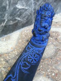 Ganesha wierook houder. Schitterend polystone handwerk. 29 cm.