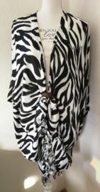 Sarong vest OpArt. 100% rayon, met sarong knoop