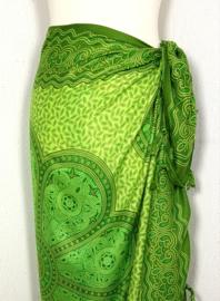 Sarong Mandala groen tinten.