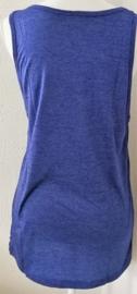 Lord Ganesha hemdje blauw M. Lang model, met wijde armsgaten. Met gedrukte print.