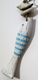 Geboortehangertje vis 19 cm. De vis staat symbool voor flexibiliteit, vruchtbaarheid, harmonie en rijkdom.