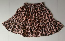 Hippe kleine meisjes Bali trend. Stroken rokje tijgerprint. Taille tot 64 cm. lengte 41 cm. Ned maat 122 t/m 140. 100% rayon.