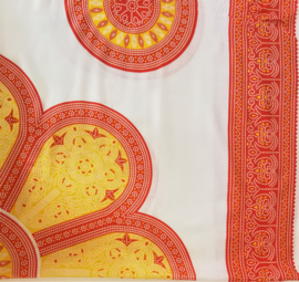 Sarong Mandala, oranje/geel wit
