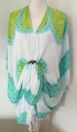 Sarong vest mandala. Symbool voor oneindigheid. 100% rayon, met sarong knoop.