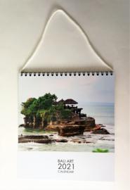 Bali  Art kalender 2021. Met ophanglus en  schitterende sfeer foto's. 19 x 19 cm.