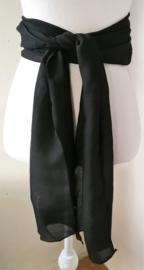 Kebaya sjerp (selendang) zwart 2.40x 28 cm.