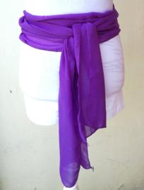 Kebaya sjerp (selendang) paars 2.40 x 28 cm.