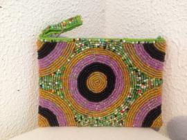 Kralenetui/ portemonnee, 10 x 14 cm met rits.