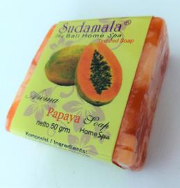 Papaya Bali Home spa zeepje 50 gram.