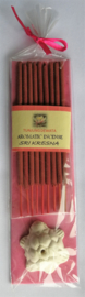 Sri Kresna wierook sticks. Pakje met 9 staafjes inclusief klein schildpad houdertje. Max 1 product per bestelling.