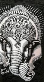 Lord Ganesha hemdje zwart/antraciet M. Lang model, met wijde armsgaten. Met gedrukte print.