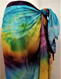 Sarong Tie dye 'Rainbow'.