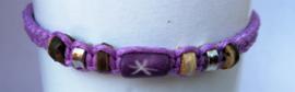 Macramé bracelet lila