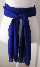 Kebaya sjerp (selendang) blauw 2.40 x 28 cm.