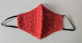 Batik mondkapje Bali rood.