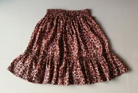 Hippe kleine meisjes Bali trend. Stroken rokje tijgerprint. Taille tot 52 cm. lengte 42 cm. Ned maat 104. 100% rayon.
