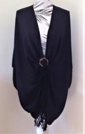 Sarong vest zwart.  100% rayon, met sarong knoop.