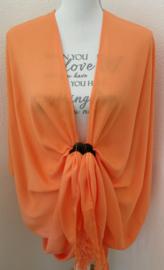 Sarong vest abrikoos. 100% rayon, met sarong knoop.