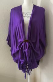 Sarong vest paars van 100% Rayon, met sarong knoop.