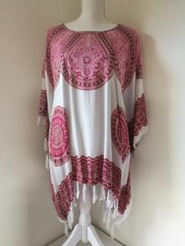 Sarongshirt Mandala met wijde hals 100% rayon