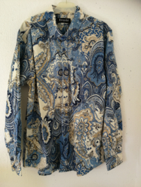 Blouse/overhemd. Balinese L  wijdte 102 cm Mouwlengte 62 cm. Zacht katoen.