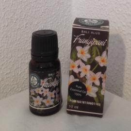 Frangipani 100 % pure essentiële olie. Opent het hart.  Als aromatherapie, op de huid of als verdamper. Afrodiserend, pijn verzachtend, ontspannend.  Verlicht stress, nervositeit en angst. 10 ml.