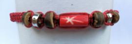 Macramé bracelet rood