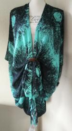 Sarong vest schimmenspeL. 100% rayon, met sarong knoop.