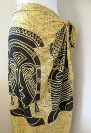 Sarong hindoestaanse Goden. Kleur navel chakra, element vuur, mantra RAM. 115x150 cm 100% Rayon (kunstzijde) wasbaar op 30 graden. Met sarongknoop.