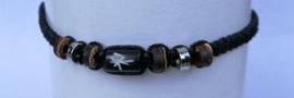 Macramé bracelet zwart