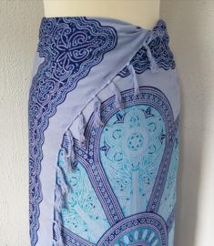 Sarong Mandala XL blauw tinten.