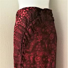Batik sarong 'Zee anemoon', zware kwaliteit, 110x150 cm met sarongknoop. Wasbaar op 30 graden. 100 % rayon.