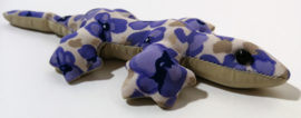 Gekko zwaarte knuffeltje XS. Gevuld met Bali zand. 41 gram. 12,5 cm lang