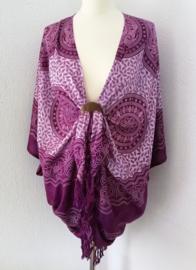 Sarongvest Mandala Circle of Life'. 100% rayon, met sarong knoop.