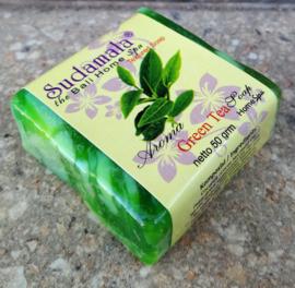 Sudamala Green Tea Home spa zeepje 50 gram. Max 1 product per bestelling.