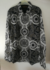 Blouse/overhemd. Balinese L  wijdte 102 cm Mouwlengte 65 cm. Zacht katoen. Ned. maat 48.
