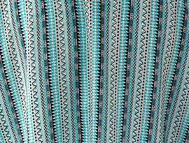 Top met mouwtje Bali Garis. Lengte 71 cm, bovenwijdte 1.28 cm, heup 1.46 cm. 100% rayon.Maat 50/54