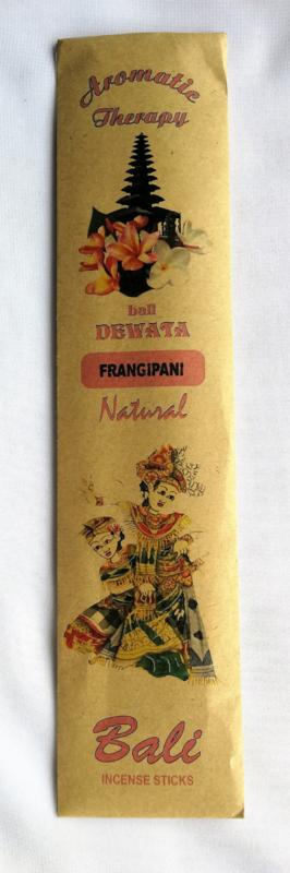 Verrukkelijke Balinese tempel wierook.  Bali Dewata Frangipani incense sticks. 12 stuks.